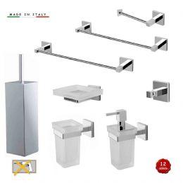serie gea accessori bagno di stile moderno madein italy - Kit Arredo Bagno