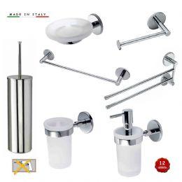 Kit accessori bagno serie nova 7 pezzi lineag for Kit accessori bagno