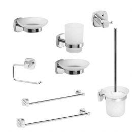 Kit accessori bagno q line 8 pezzi metaform for Kit accessori bagno