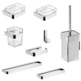 Kit accessori bagno 25 8 pezzi metaform for Kit accessori bagno