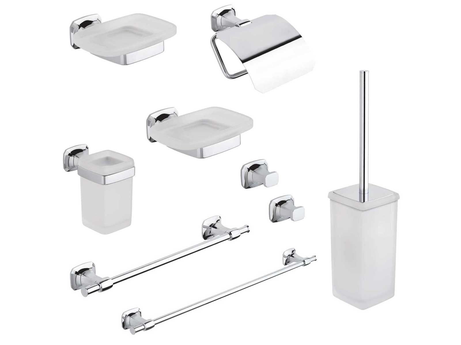 Kit accessori bagno aida 8 pezzi metaform - Accessori per il bagno ...