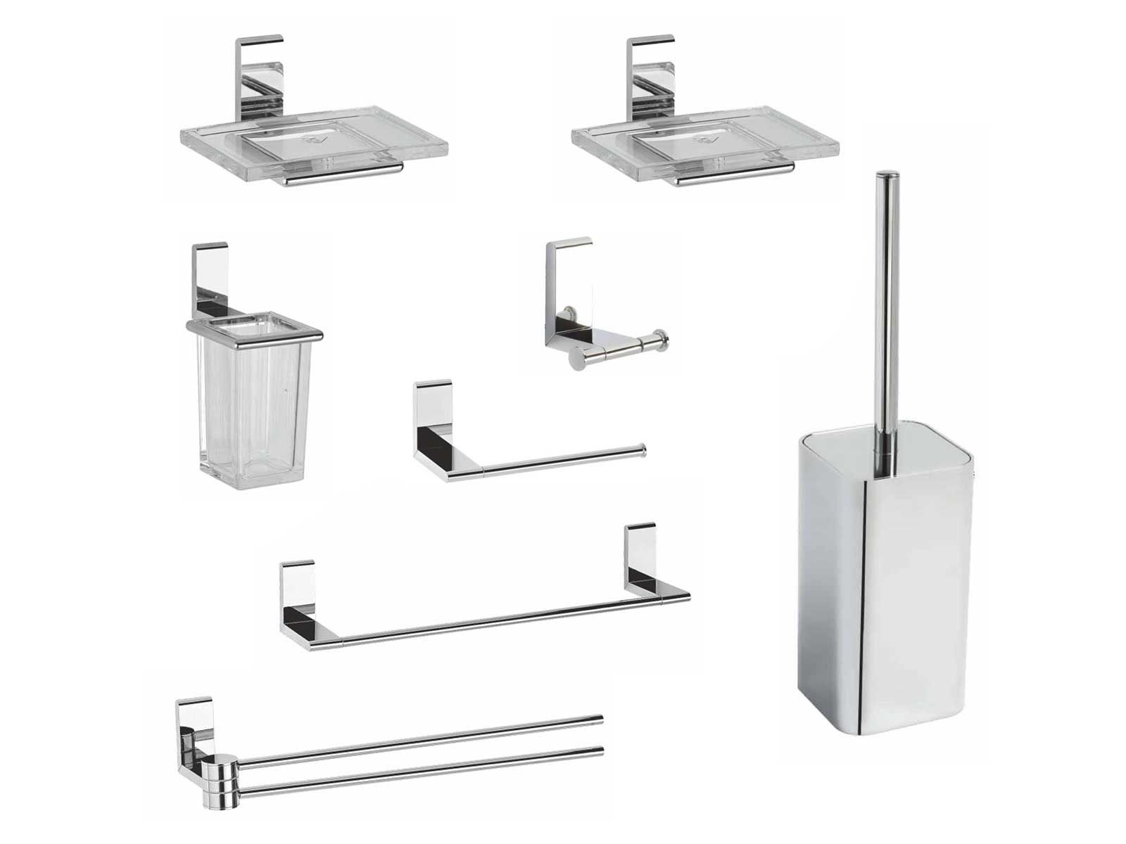 Kit accessori bagno ella 8 pezzi metaform for Accessori per bagno