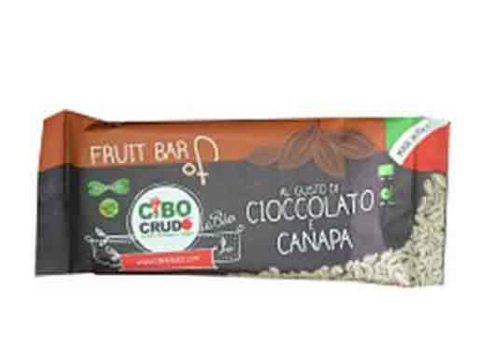Barretta Cioccolato e Canapa Bar Chocolate and Hemp Bio Raw Organic