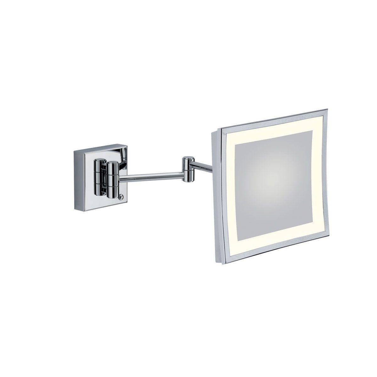 Specchio ingranditore quadrato con luce al led 23 cm bagno - Luce led specchio bagno ...