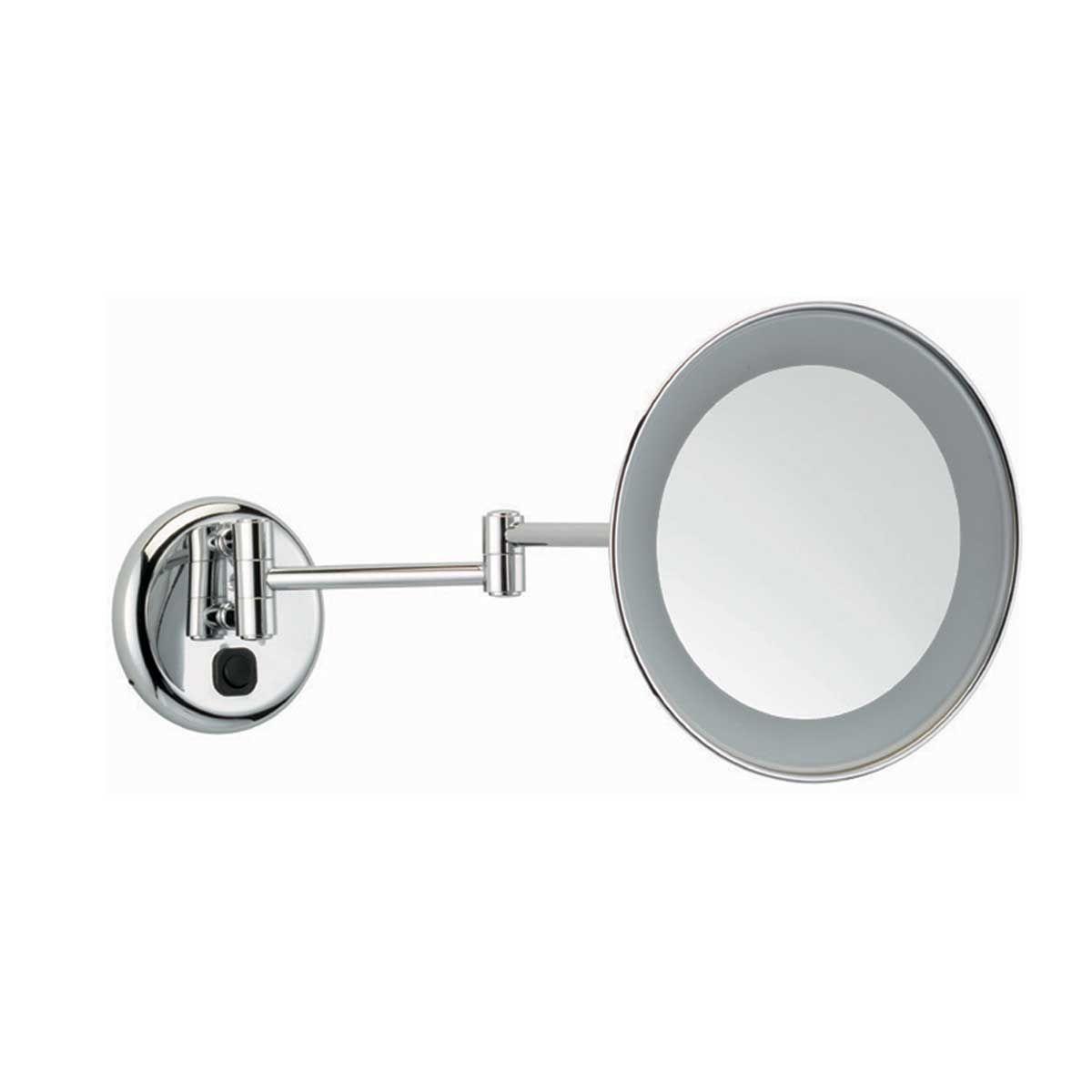 Accessori Bagno Tl Bath : Specchio ingranditore con luce Ø cm braccio doppio