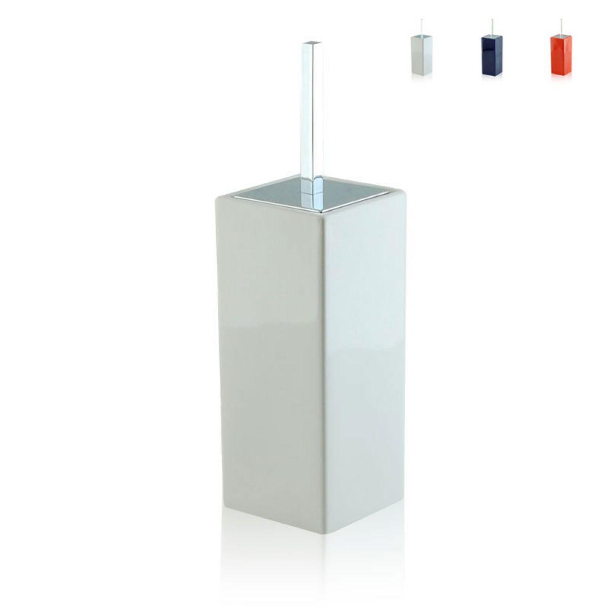 Portascopino da bagno quadrato bottiglioni - Porta scopino bagno ...