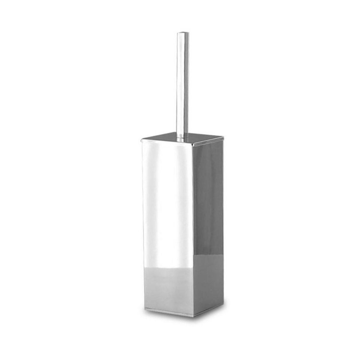 Wall square Toilet brush holder in chrome-plated brass Bottiglioni