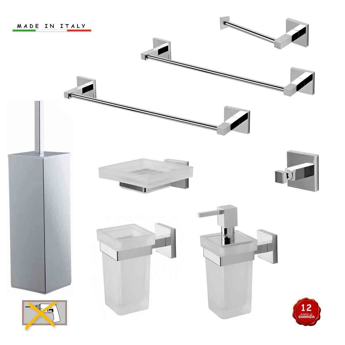 Kit accessori bagno serie gea 8 pezzi lineag for Kit accessori bagno