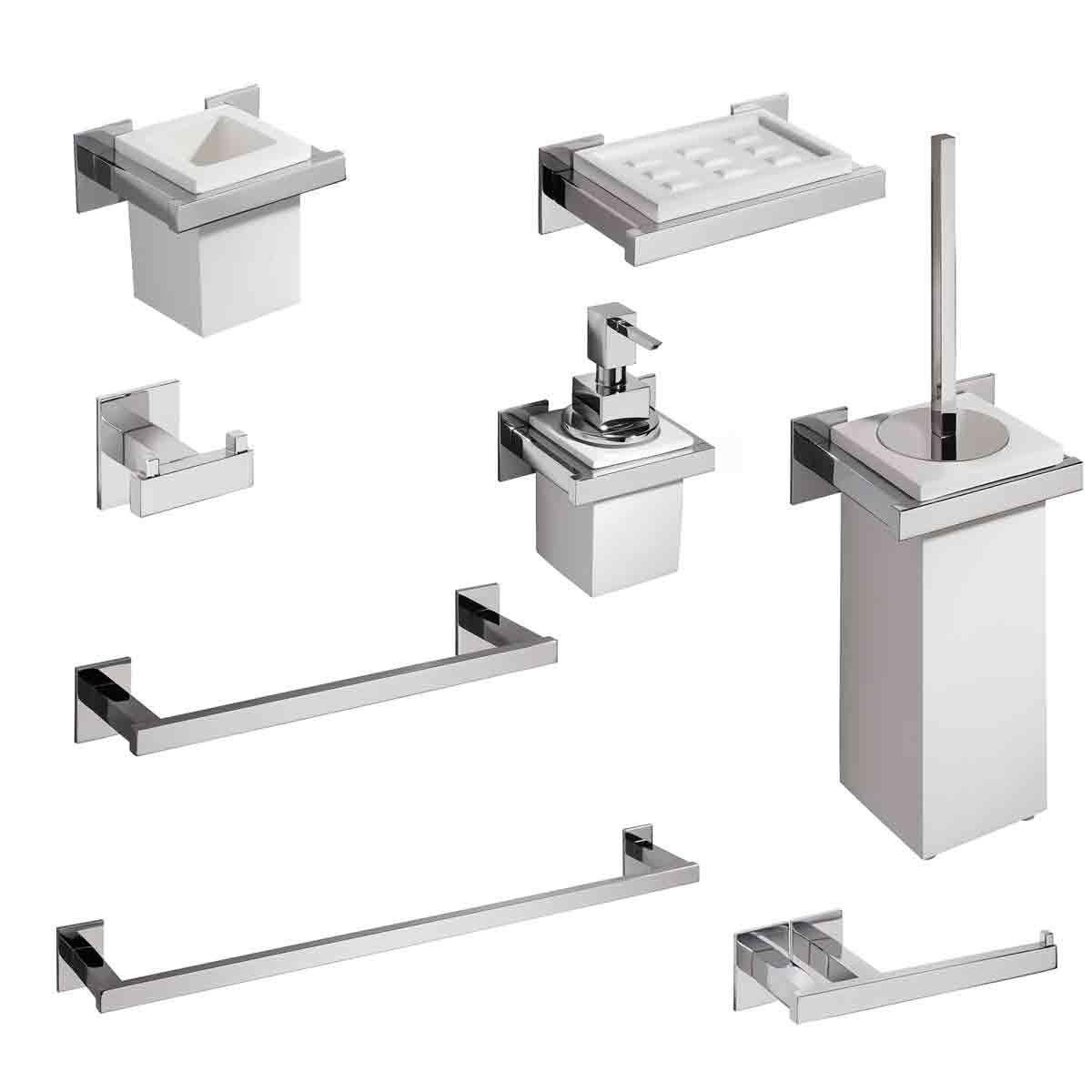 Set accessori bagno Diva 8 pezzi Carlo Iotti s.r.l