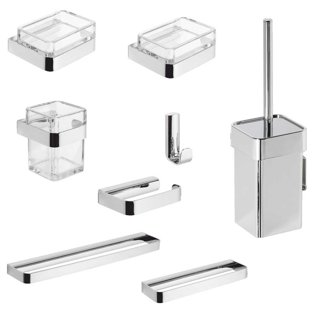 Accessori Bagno Metaform : Kit accessori bagno pezzi metaform
