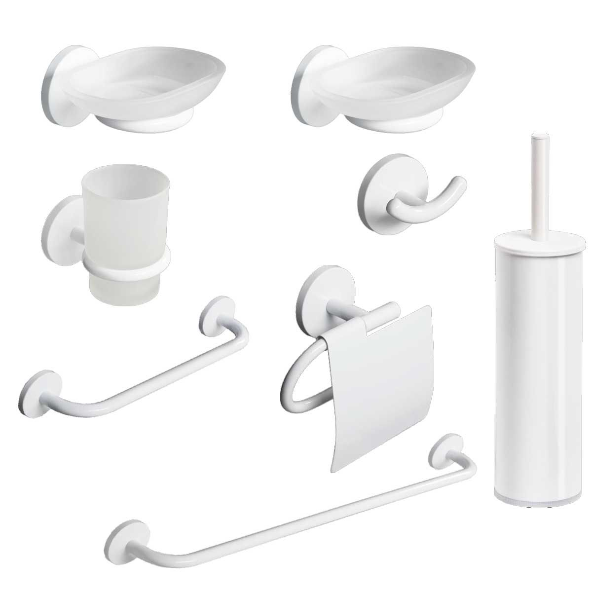 kit accessori bagno one duo bianca 8 pezzi metaform - Kit Arredo Bagno