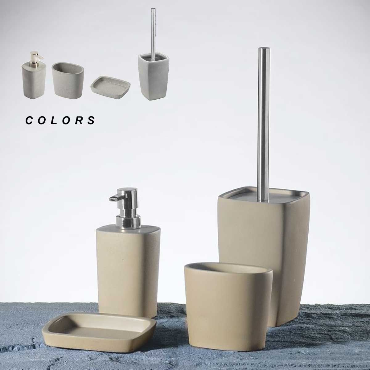 Set accessori bagno horus metaform for Accessori bagno ikea