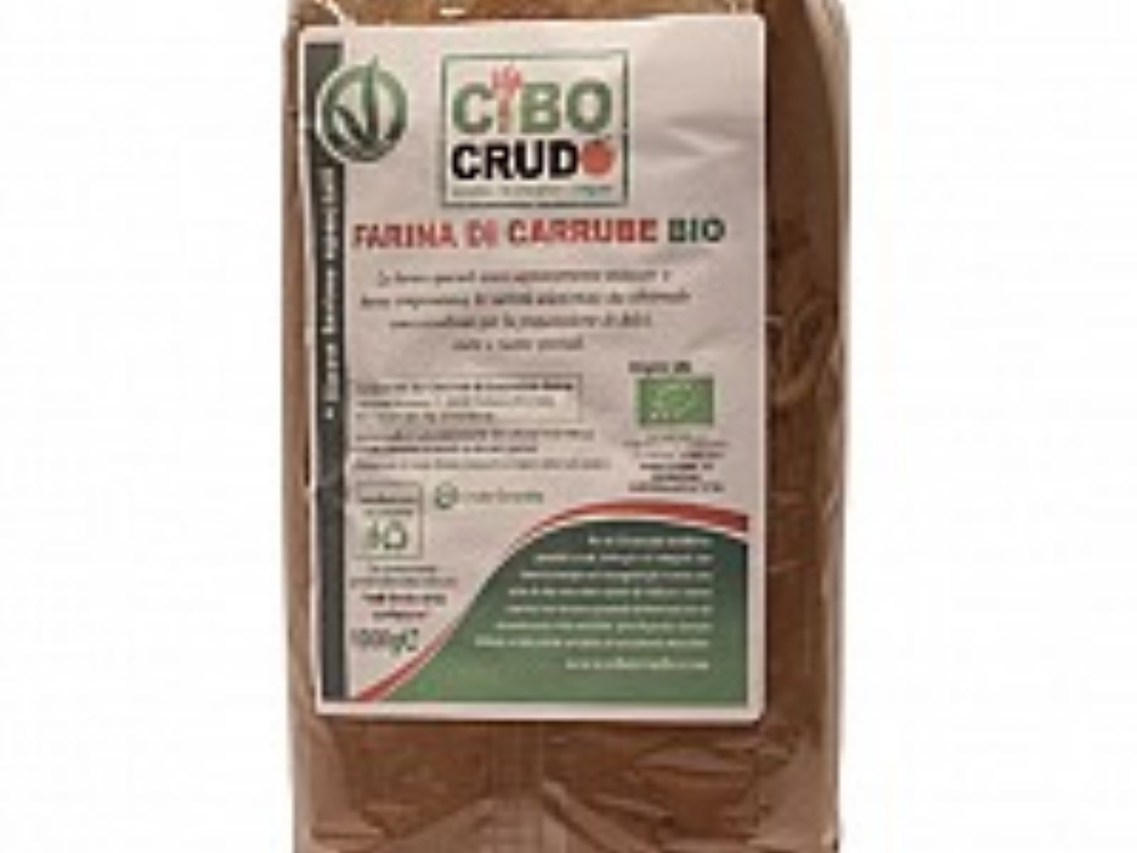 farina o polvere di carrube bio raw organic cibocrudo - Farina Arredo Bagno